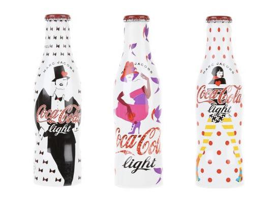 """可口可樂最新合作系列:Coca-Cola  x Marc Jacobs Light Bottle """"J'aime les années 90"""""""