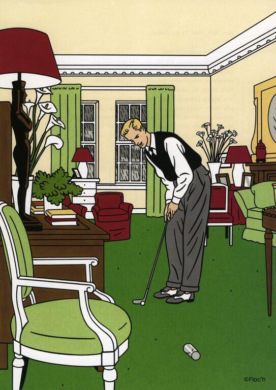 1994 Journal d'un New-Yorkais p35 Indoor Golf